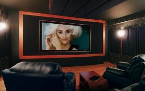 sala kinowa w domu nowoczesna