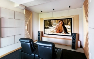 sala kinowa w domu prywatna
