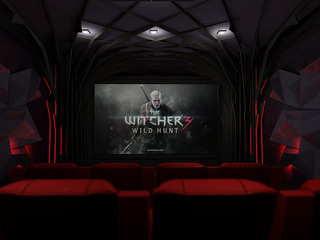 Wiedźmin 3-GAME ROOM-prywatna strefa rozrywki w domu z okazji premiery.