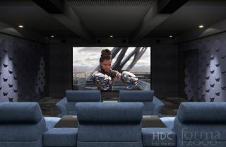 Projekt i realizacja sali kinowej dla 9 osób